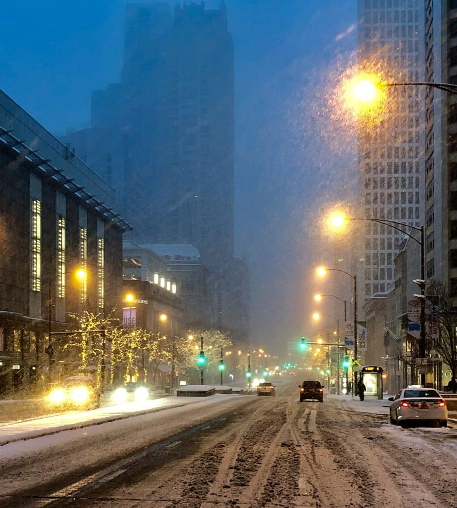 Michigan Ave, Chicago Snow Storm