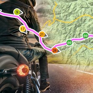 Biker Drive Weather Route