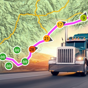 Truck Drive Weather Route